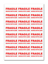 1200 FRAGILE - Handle with care Labels Medium Stickers