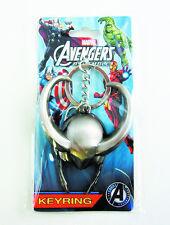 Marvel Avengers Loki Helmet Keychain NEW Pewter Keyring Accessory Toys Bad Guys