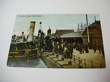 Lot34w - 1907 St GEORGE'S LANDING STAGE - LIVERPOOL Mersey Postcard