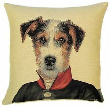 """NEW 18"""" FOX TERRIER ARISTODOGS CUSHION COVER 4771, BEAUTIFUL QUALITY GIFT IDEA"""
