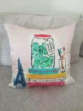 "Kate Spade ""Adventure Fund Bucket List "" Down & Silk throw bed pillow"