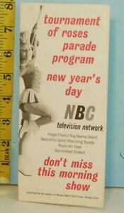 1963 NBC TV Network Tournament of Roses New Years Day Parade Program Minute Maid
