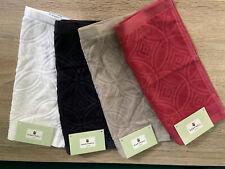 Norman Hartnell Cotton Face Towel Set Of 4 Cotton Flannels British Designer