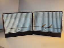New listing Pair of Vintage Wooden Canary Show Transport Cages