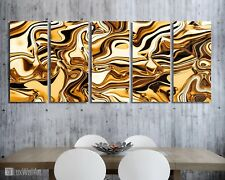Gold Wrap Wall Art Metal Print Decor Ready to Hang
