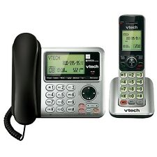 Telephone With Answering Machine Corded Cordless Phone Caller ID/Call Waiting
