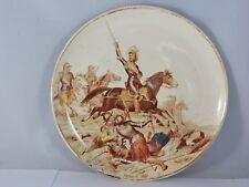 ASSIETTE EN FAIENCE CREIL & MONTEREAU NOS GLOIRES MILITAIRES N°8 HENRI IV  W178H