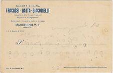 MARCHENO V.T.- SOCIETA' EDILIZIA FRACASSI GATTA GIACOMELLI (BRESCIA) 1920..