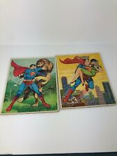 Vintage 1966 Superman Tray Puzzles Lot