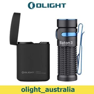 OLIGHT Baton3 Flashlight 1200 Lumens Ultra-compact LED Torch with Charging Box