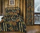 4 pc Twin size Woods Black Camo comforter and sheet/pillowcase set