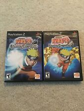 PS2 Naruto: Uzumaki Chronicles 1 & 2 (Sony PlayStation 2) Complete Game Discs