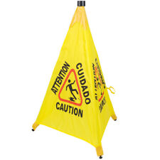 6 Pack Restaurant Caution 31 Pop Up Wet Floor Yellow Folding Sign Commercial