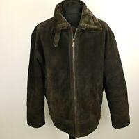 TCM Mens Vintage Aviator Pilot Bomber Jacket Flying Brown Soft Leather