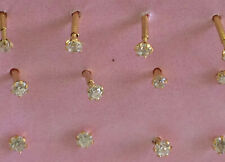 22 ct gold Indian nose stud/ earrings  x 1 pair  lot  006   3 mm