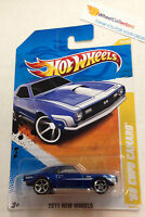 '68 Copo Camaro #25 BLUE * New Models * 2011 Hot Wheels * A16
