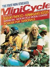 MiniCycle Magazine- Copy Of The 1974 Suzuki TM75 Test Flying Mike Brown