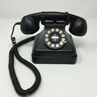 CROSLEY Kettle Telephone Classic Model CR 62 Black Vintage Rotary Dial Style