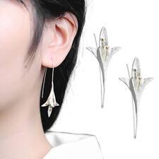 1 Pair Elegant Orchid Earrings 925 Silver Earrings Wedding Engagement Party Gift