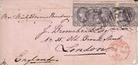V149) VICTORIA - POSTAL HISTORY: 1859 (SEPT.) COVER TO LONDON ENDORSED