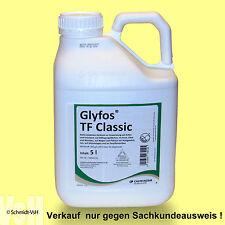 5 L Glyfos TF Classic Unkrautvernichter, Nur für den beruflichen Anwender.