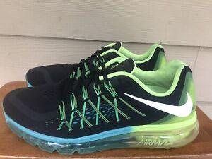 Nike Air Max 2015 Black Volt Hyper Jade 698902-003 Men's Running Shoes Sz 11