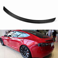 Carbon Fiber Trunk Lip Spoiler For Tesla Model S 2012 13 14 15 16 17 JC-XP228-1