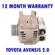 TOYOTA AVENSIS 2.0 2000 2001 2002 2003 REMANUFACTURED ALTERNATOR