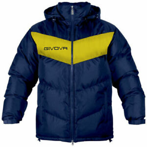 Givova Small Navy/Yellow Football Substitution Jacket Manager Subs Coat