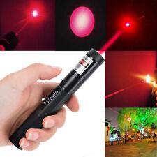 900 Miles 650nm Red Laser Pointer Pen Visible Beam Light 18650 Focus/Zoom Lazer
