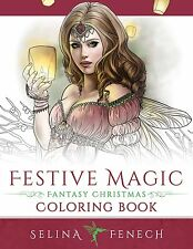 Festive Magic Adult Coloring Book Fairies Unicorns Angels Fantasy Christmas