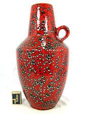 Beautiful glazed 70´s design Schlossberg  Keramik pottery vase 279  38