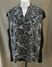 Worthington Woman, 2X, Lilianna Lace Black Multi Top, New with Tags