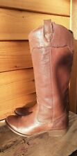 FRYE CARSON BROWN LEATHER PULL UP BOOTS WOMEN'S sz 7.5
