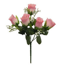 5 Soft Rose Buds  MANY COLORS ~ Silk Wedding Flowers Roses Bouquets Centerpieces