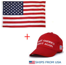 3'x 5' FT American Flag U.S.A Donald Trump Make America Great Again Hat Flag Cap