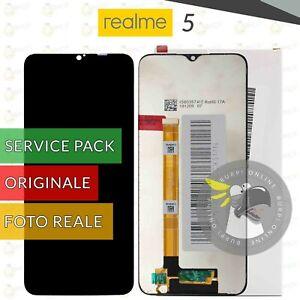 DISPLAY ORIGINALE REALME 5 SCHERMO VETRO LCD TOUCH RMX1911 RMX1919 SERVICE PACK