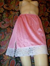 Vintage Sears Lacy Pink Nylon Mini A-line Half Slip M