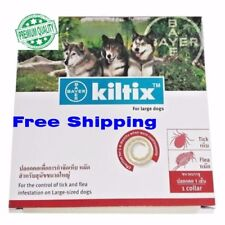 6X Bayer Kiltix dog collar ticks fleas control dog large size 5 months (70 cm.)