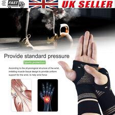 Elastic Copper Wrist Hand Brace Support Fit Carpal Tunnel Splint Strap Sprain UK