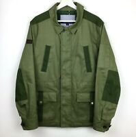 Tommy Hilfiger Military Field Army Green Utility Mechanic Safari Cotton Jacket M