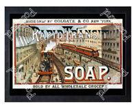 Historic Rapid Transit Soap Advertising Postcard