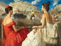 Home Art Wall Decor Girls Bullfight Oil Painting Picture Printed on Canvas