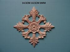 Apliques De Centro De Madera Decorativa floral Muebles moldeo WK8