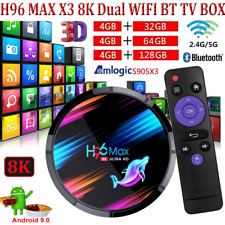 H96 Max X3 32G/64G/128G Android 9.0 TV Box S905X3 Quad Core 8K 5G WiFi BT4.0 USB