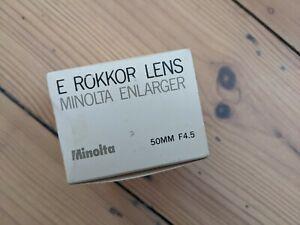 Minolta E Rokkor Enlarger Lens boxed 50mm f4.5