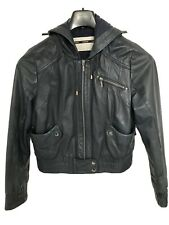 Women Leather Jacket Size 12. Pre-owned.