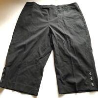 Merona Black Crop Capri Pants Plus Size 20W A399