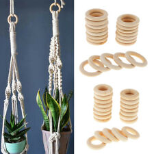 40Pcs Wooden Craft Ring for Making Jewelry/Baby Safety Teething Toy Teether