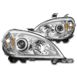 FOR 98-05 MERCEDES-BENZ W163 ML320 ML430 ML55 CHROME PROJECTOR HEADLIGHTS LAMPS